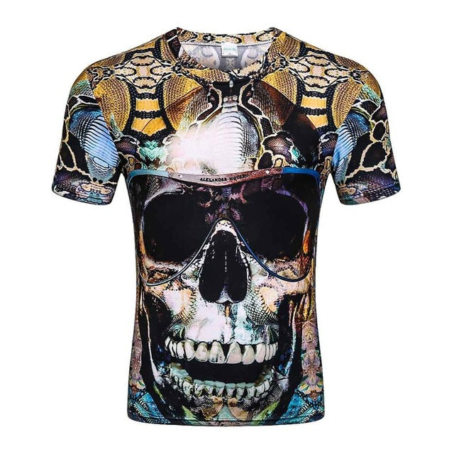New Fashion Brand T-shirt Hip Hop 3d Print Skulls Harajuku Animation 3d T shirt Summer Cool Tees