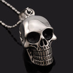 Necklace Men,Biker Motorcycle Style Black Stainless Steel Skull Pendants Necklaces