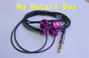 New Cool Design Skull Stereo Bass Earphone 3.5mm In-ear Ear phone