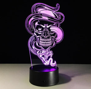 3D Ghost Illusion Night Light 7 Color Change bedroom LED desk table light lamp