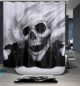 Creative Polyester Fabric Waterproof Mildew Resistant Shower Curtain Skull Wolf