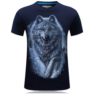 3D Tee shirt O-Neck Short Sleeves white Summer Fashion Casual Brand T shirt Men's Plus size S-6XL