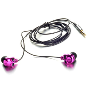 Hot Sale Unique Desgin 3.5mm In-Ear Earphone Skull Stereo Headset