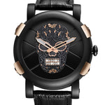 Skeleton Skull Quartz Men Watches Luxury Waterproof Leather Men Sports Watch
