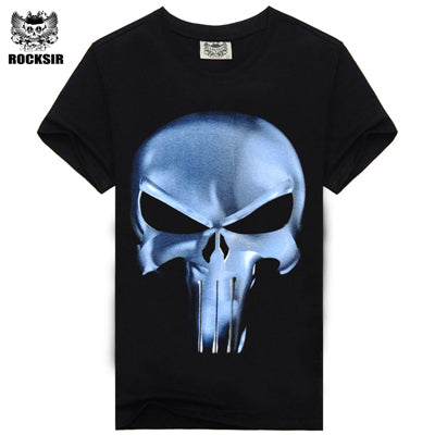 3d Printed Skull Gun T Shirt Men Cotton Men's Wear Casual Famous Brand Men Shirt