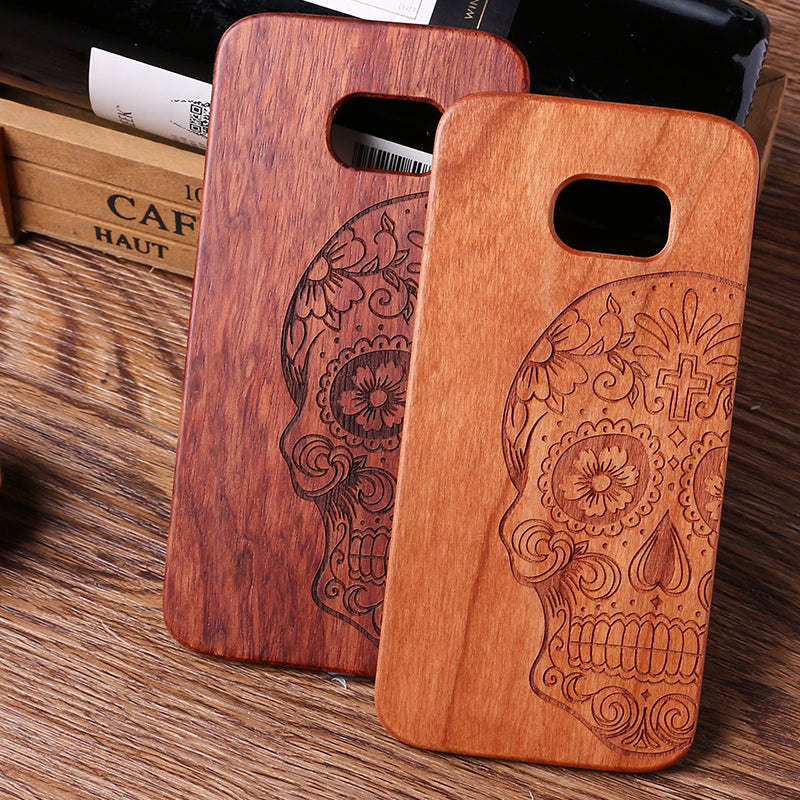 Indian Mandala Elephant Tribal Skull Cat Owl Wood Case
