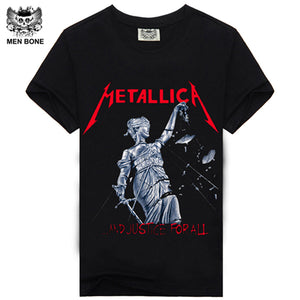 100% Cotton T-shirt Male Fashion Brand rock punish punk 3D skull Men T Shirt XXXL