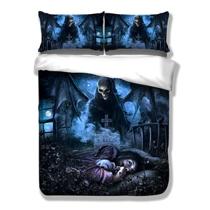Nightmare Bedding Set Skull Customized Duvet Cover Sets Twin Full Queen King Size