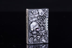 Personality Creative Langqing Skull Loud Voice Gas Lighter Metal Windproof Lighter