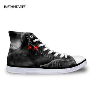 Vulcanize Shoes Classic High Top Canvas Shoes Casual Men Lace-up High-top Flat Shoe