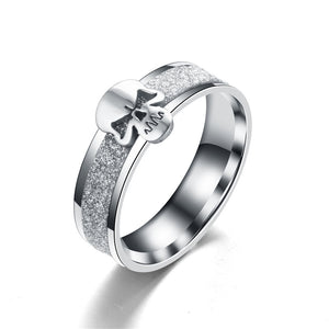 Stainless Steel 6mm Rhodium Plated Punk Dull Polish Cool Exaggerated Personality Ring