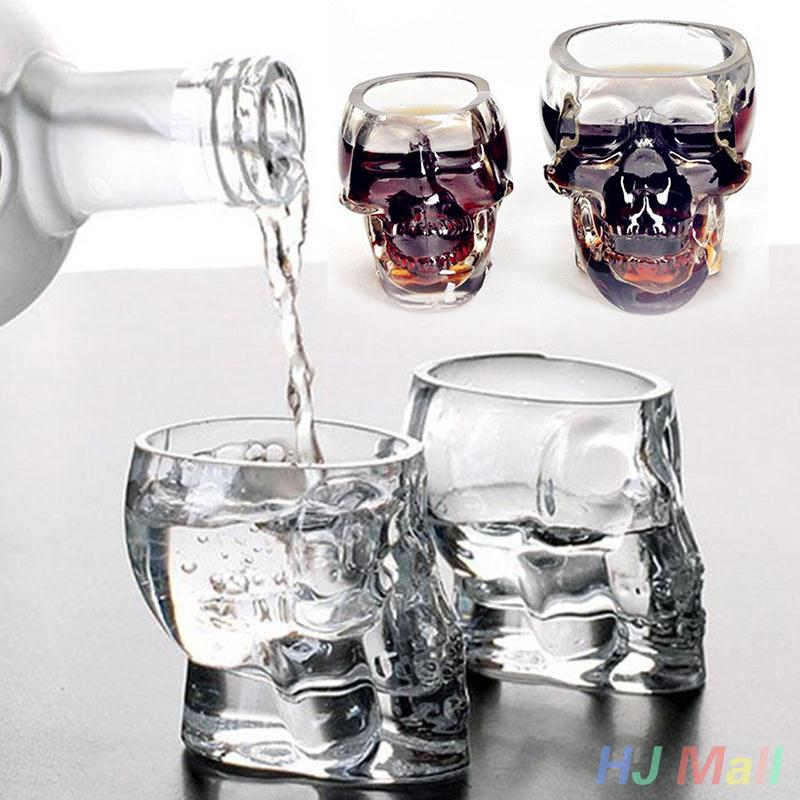 Bones Armor Skull Designed High Wine Cup Gothic Barware Drinkware