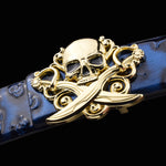 Skull belts Designer Fashion popular genuine Leather Belt High Quality Luxury