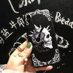 Skull skeleton phone cases for iPhone X 8 8Plus hard covers shockproof shell super funda