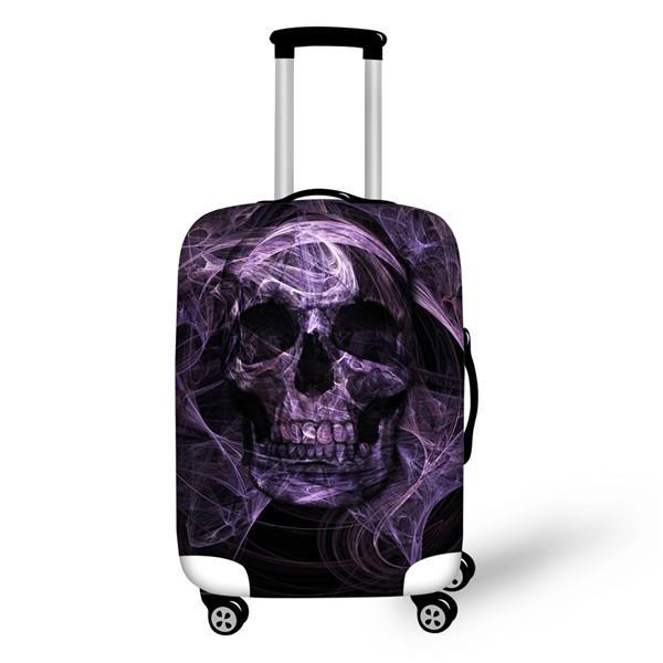 3D Punk Skull Head Printed Luggage Waterproof Covers