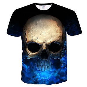 Newest Skull 3D Print Cool T-shirt Men/Women Short Sleeve Summer Tops Tees T shirt Fashion