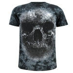 Men Skull 3D T Shirts Cotton Costume Short Sleeve Flag Printed Tops