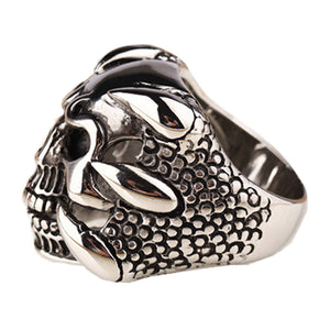 New Punk Rock Mens Biker Rings Vintage Gothic Skeleton Jewelry Personalized Ring