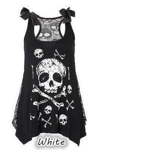 New summer style skull and head digital print leisure suspender vest with a top top vest S-5XL