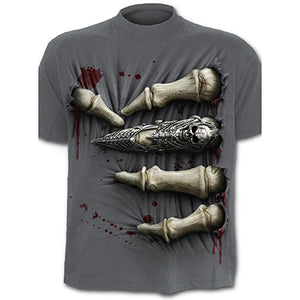 3D Printed T-Shirts Men Short Sleeve Skull Zombie Print T Shirt Rock Hip Hop Cosplay Tees