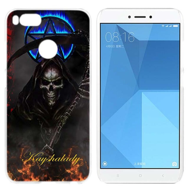 Grim Reaper Skull Skeleton Clear Cover Case Coque