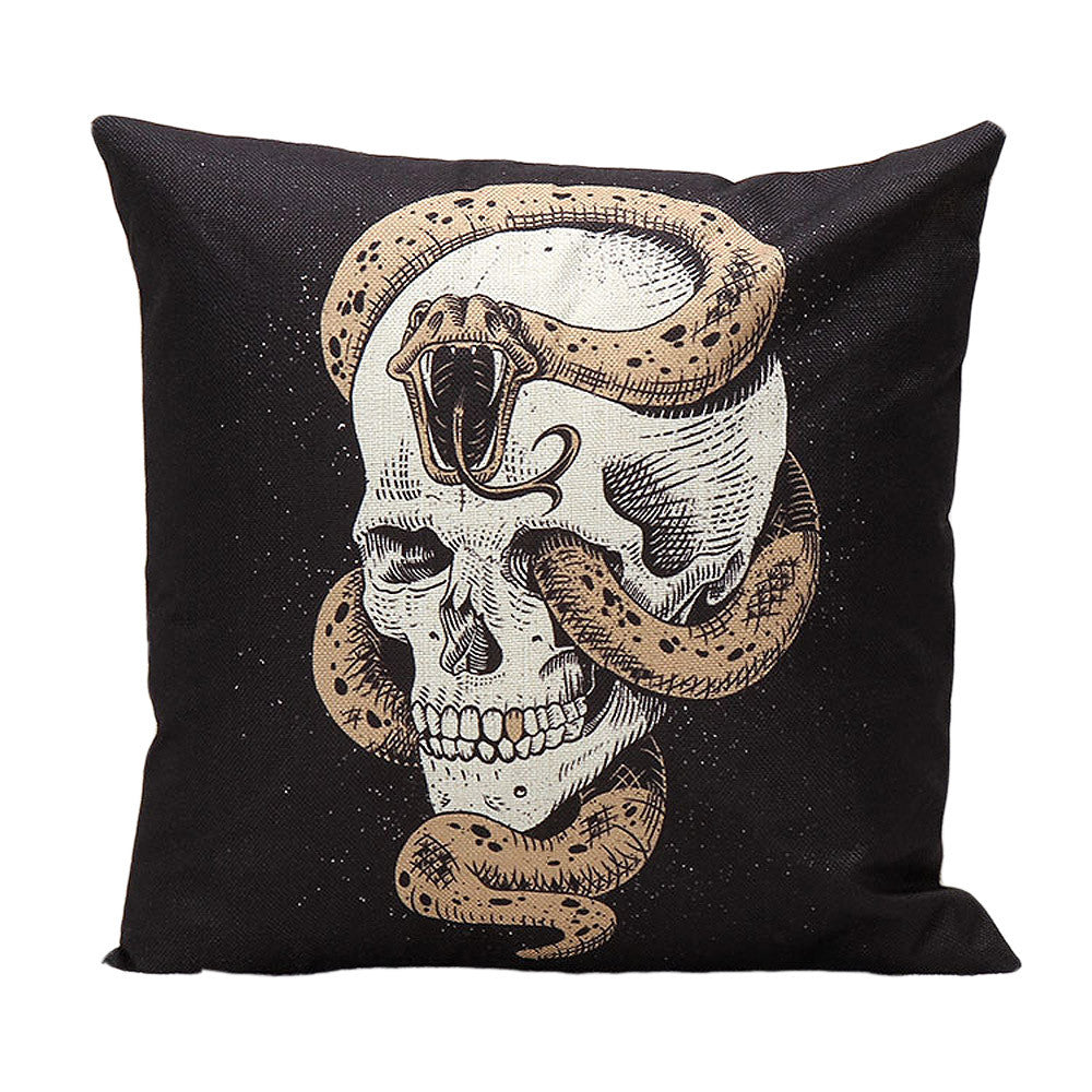 New Qualified Cushion Cover Halloween Skull Pillow Case Sofa Waist Throw Cushion Cover
