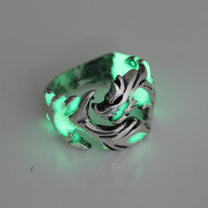 Mens Ring Luminous Dragon Rings for Men Women Rings Glow In The Dark Male Ring Jewelry