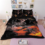 3D skull korean cotton duvet/doona cover set US king queen full twin size 3pcs