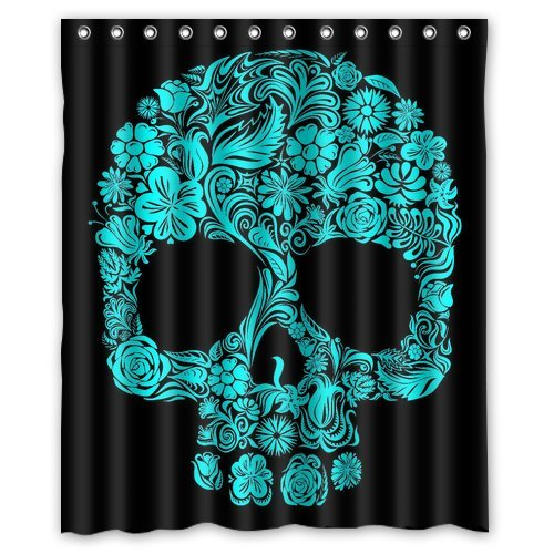 Polyester Shower Curtain Bathroom Waterproof Bathroom Fabric Designed Black