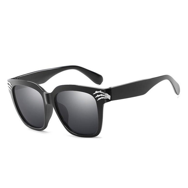 Black Skull Sunglasses Men Women Brand Mirror Sun Glasses For Men Fashion Star Style Shades