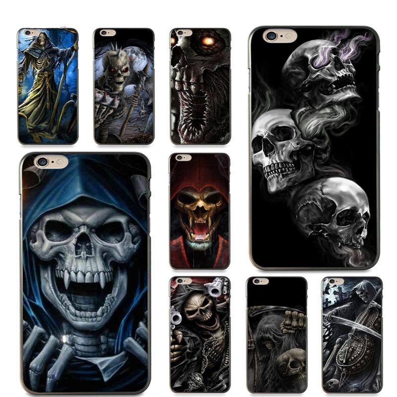 Grim Reaper Skull Skeleton Luxury Hybrid phone case for iPhone