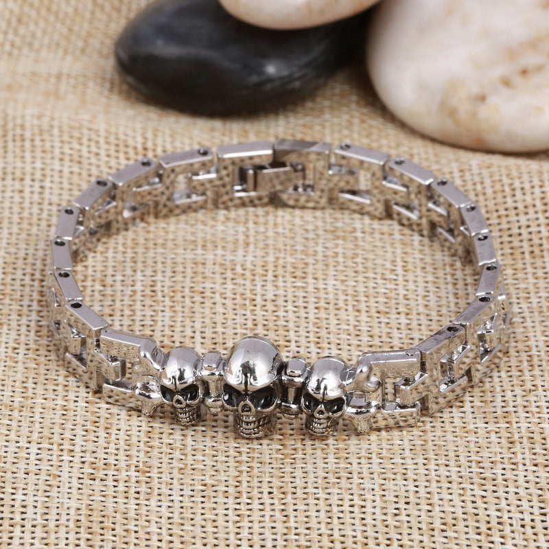 Fashion Masculina Skull Bracelet Steel Metal Bracelets and Bangles With Calavera Bracelet Homme