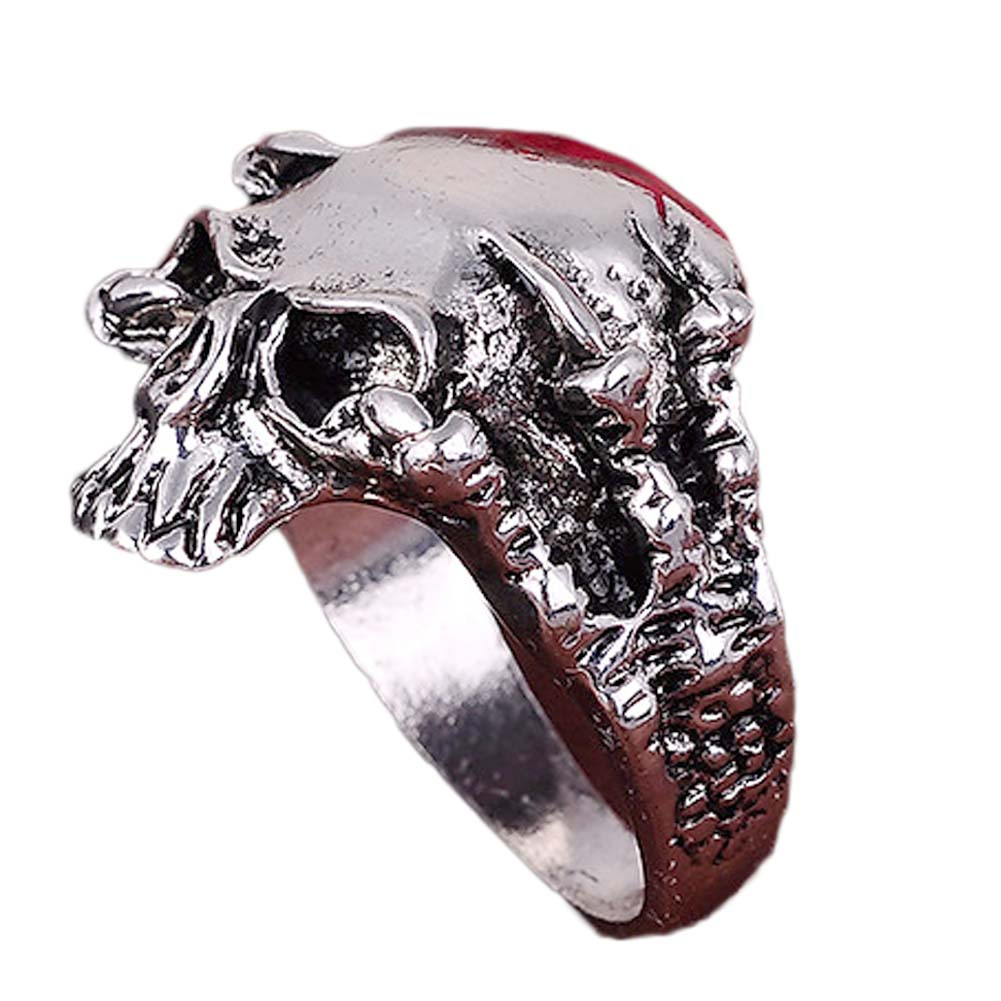 Exaggeration skull alloy ring punk men retro jewelry new style factory price skull ring for men