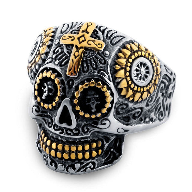 Hot Sale Jewelry Man Stainless Steel Biker Skull Ring Men Ring