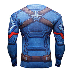 3D compression shirt fitness tights T-shirt crossfit quick dry