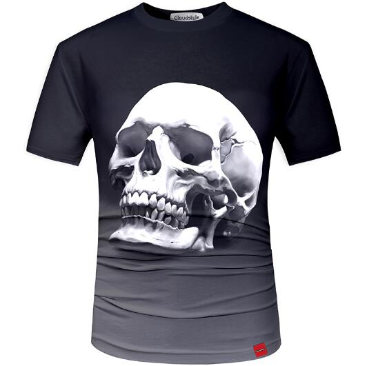 3D t shirt Street Fashion models love fashion skull soul chariot Rock T-shirt Men Clothes