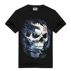 New summer style t-shirt men 3D skull casual brand mens t shirt cotton short sleeves