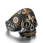 Stainless Steel Vintage Rings for Men Women Lovers Fashion Cool Jewelry Skull Ring Bijoux