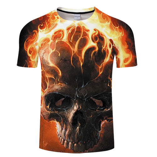 3D Print t shirt Men Women tshirt Summer Casual Short Sleeve O-neck Tops&Tees Red Streetwear