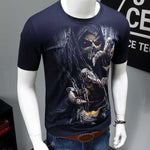 3D Skull Cotton T Shirts Fashion Brand T Shirt Men Hip Hop Casual Tees large size S-6XL Fitness