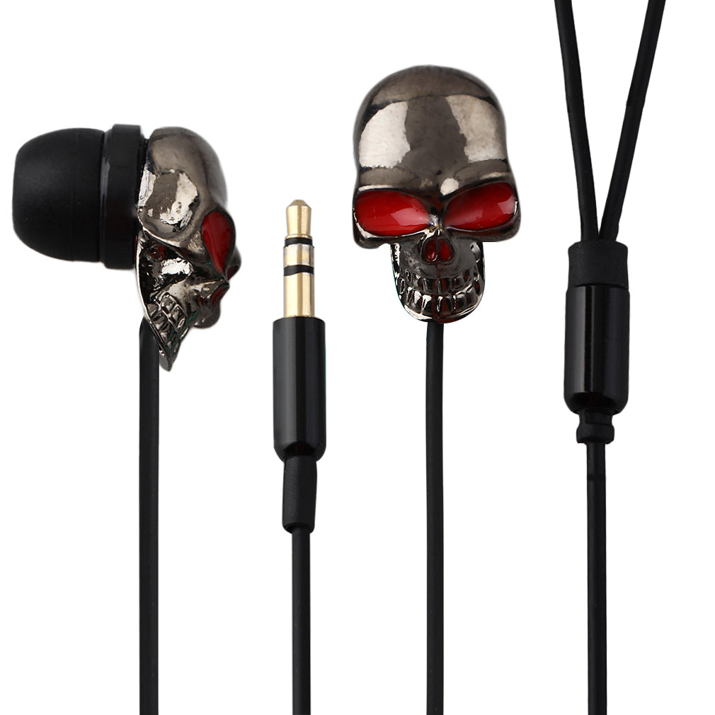 Metal Skull Stereo 3.5mm Headset Earphone for Smartphone for iPod MP3 MP4 PC
