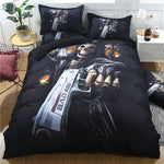 3D Skull And Gun Duvet Cover Bedding Set 3PCS Twin Full Queen King Size