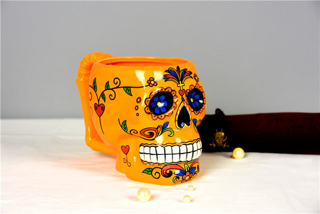 Creative Coco Movie Skull 3D Milk Drink Cup of Coffee Mugs High-capacity Office Ceramic Mug