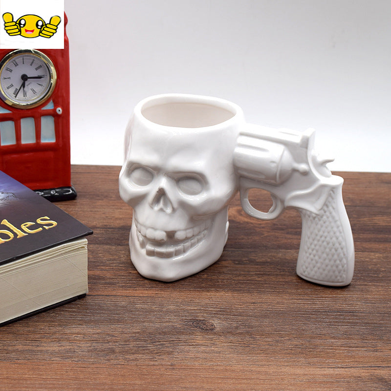Pistol Style Ceramic Morningcup Handle Coffeecups Fashion Personality Coffee Milk Breakfast