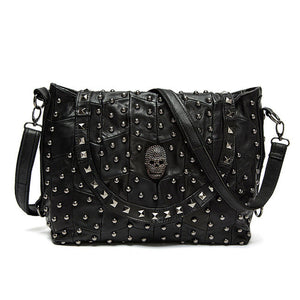 Hot Selling Women Purses And Handbags Luxury Designer Pinee Skull Rivet Genuine