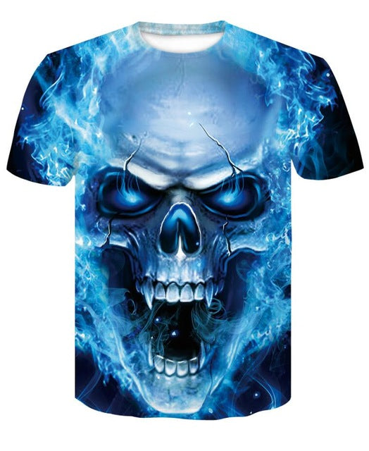 3D Print T Shirts Male Short Sleeve Summer Compression Shirt man bodybuilding Fitness