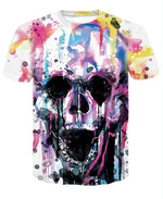 Skull T-shirt for men Newest Fashion Designed Tees Tops Punk Rock Style Man Quick Dry