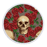 Cilected Thick Round Beach Cool Skull Dance Tapestry Large Microfiber Yoga Camping Towel