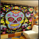 Fabric Shower Curtains Creative Tattoo & Skull Sailor Bettys Pattern Bath Curtains
