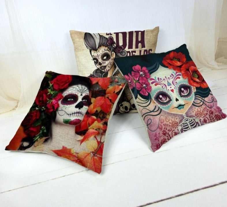 The Dead Sugar Skull Cushion Cover Gamer Chair 45*45Cm
